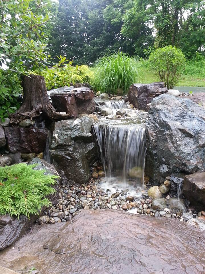 Disappearing pondless waterfall kits supplies for diy for Waterfall supplies